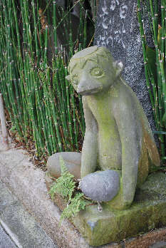 柳川かっぱ石像