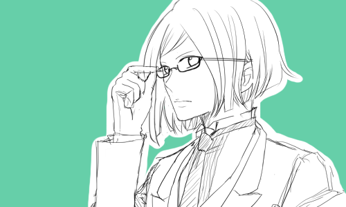 やっぱ眼鏡だね