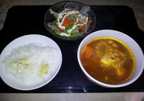 栗ご飯・トマトスープ