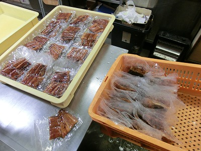 鰻の真空パック