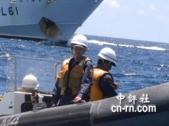 47 日方欲強行登船。(世界華人保釣聯盟提供)102159981