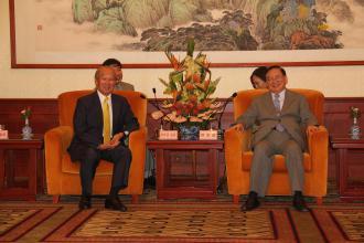 807 7月24日晚,唐家璇会长在钓鱼台国宾馆会见