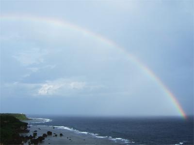 宮古島の虹