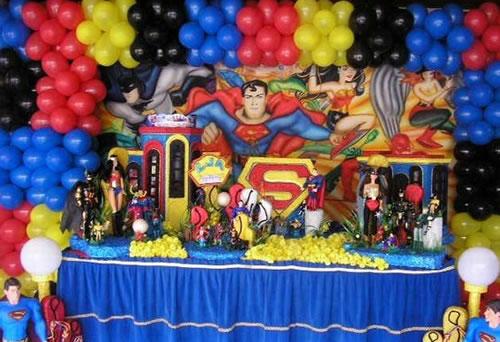 Decoração-de-aniversario-liga-da-justiça