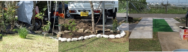 草刈が完了した庭①2012.5.23