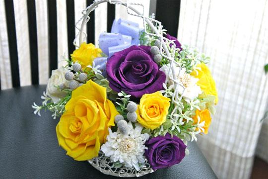 黄色と紫かご2