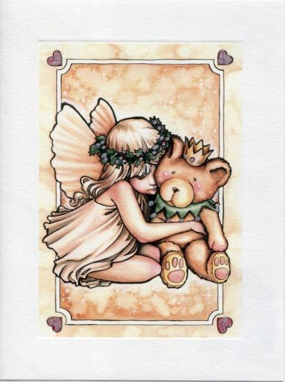 妖精とベア―のクリスマスカード