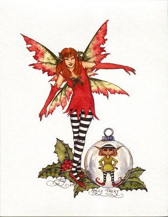 妖精フェアリーのクリスマスカード