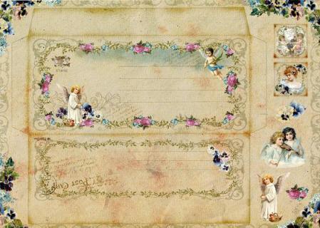天使の手作り封筒