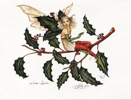 フェアリーのクリスマスカード・ウインタースピリッツ
