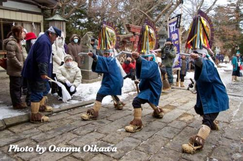 八戸えんぶり 2012 三八城神社 奉納