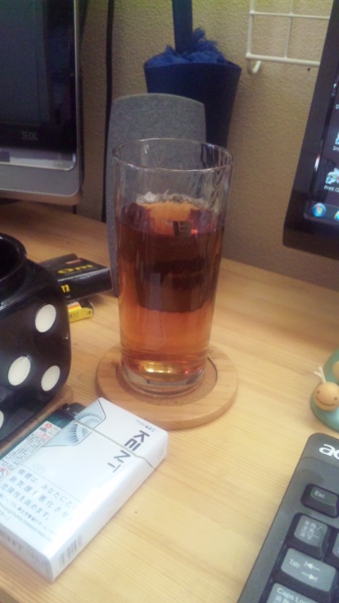 今年の初麦茶