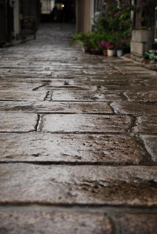 雨あがりの小路