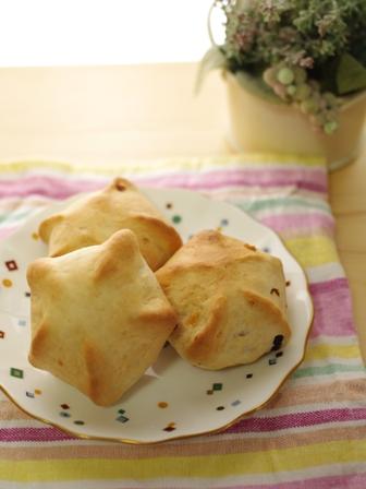 七夕の星型ドライフルーツパン