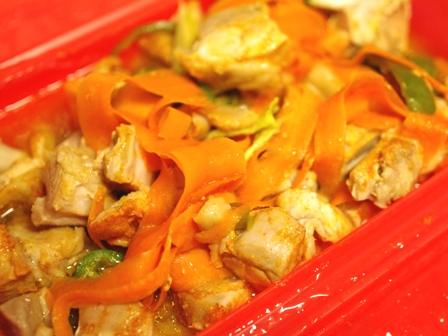 タンドリーチキン味で野菜もたっぷり