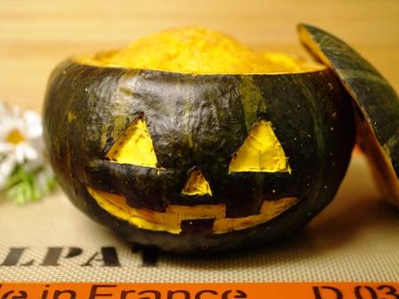 ジャックオランタンのかぼちゃケーキ