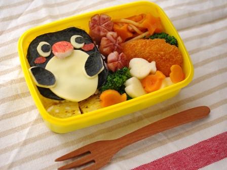 超簡単ペンギンのお弁当