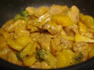 鶏肉のみそチーズ焼きサフラン使用04