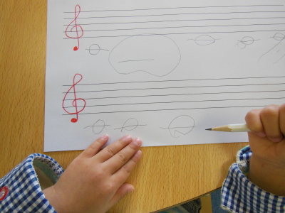 幼児教室MIE 音符の学習