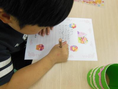 幼児教室MIE お母さまへの手紙