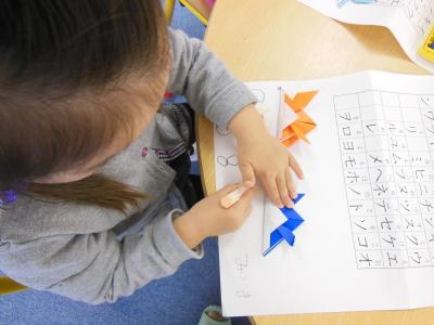 幼児教室MIE 折り紙