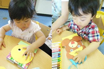 幼児教室MIE 2歳児父の日の製作