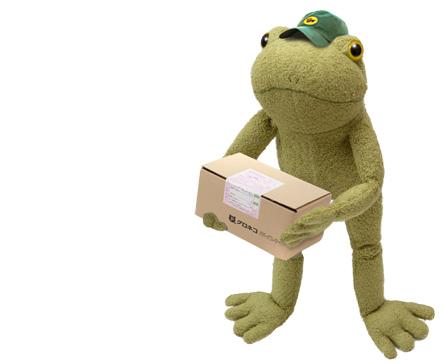 段ボール持つ蛙のブリトー