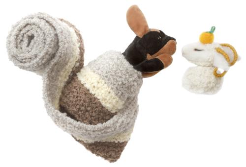 プレインブクレのマフラ鏡餅羊