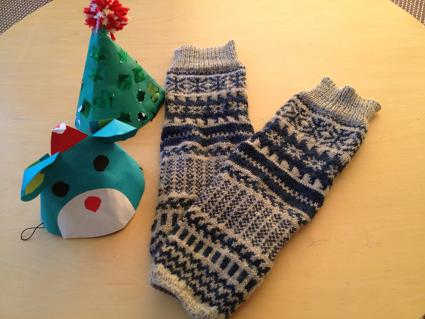 編み物 レッグウォーマー