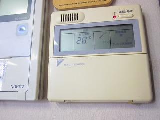 28℃に設定・・