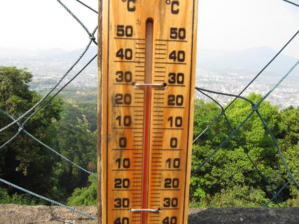 頂上の気温