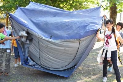 テント片付け