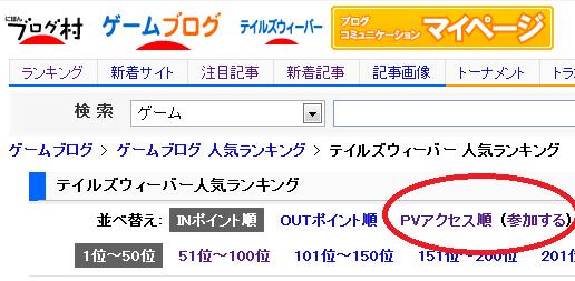PVランキング