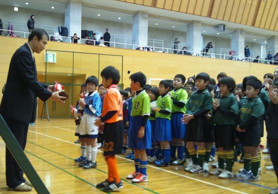 親子サッカー表彰