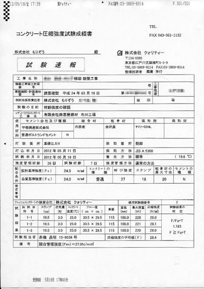 鈴木達成様コンクリート圧縮強度試験