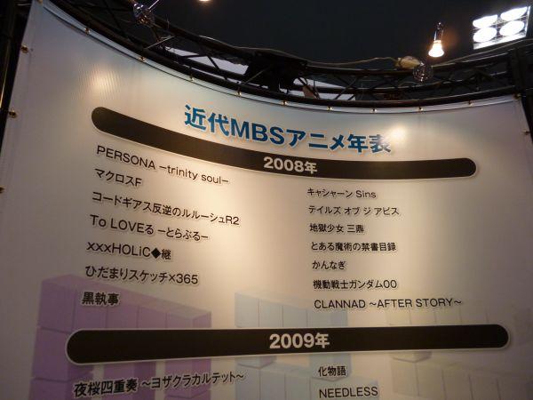 京まふ2012MBSブースアニメ一覧1