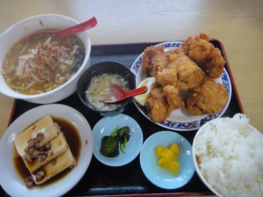 唐揚げランチ+台湾味噌ラーメン