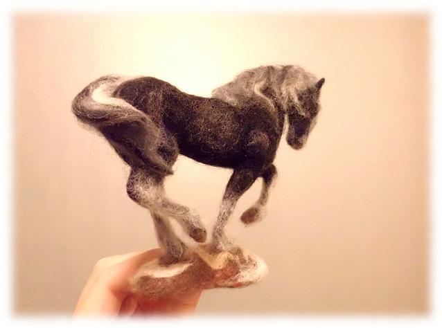 白黒の馬1
