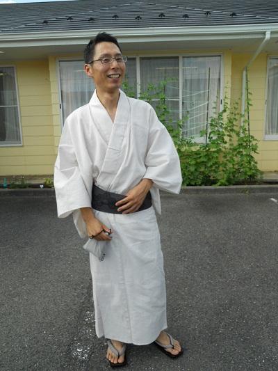 U井さん浴衣1