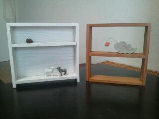 端材で飾り棚