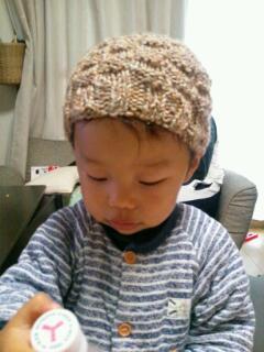 20121027_ばあば手作り帽子1