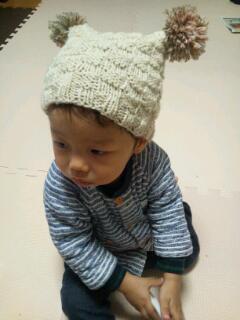 20121027_ばあば手作り帽子2