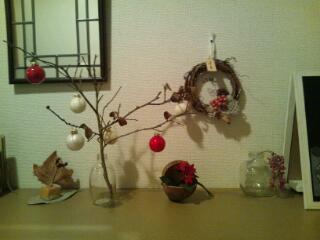 20121208_クリスマス仕様の玄関