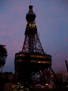 夕暮れのテレビ塔