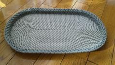 コイル編みのお盆