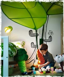 マメオのブログ-Big-leaf-Cheerful-and-Comfy-2011-IKEA-Kids-Room-Design -Grunge.j