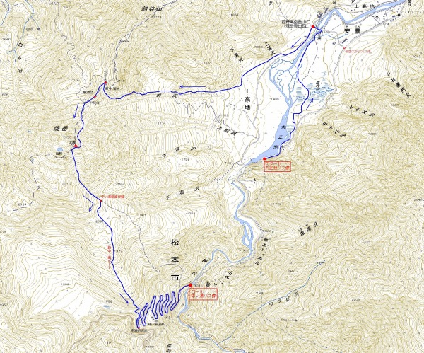 焼岳マップ