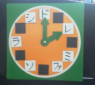 手作りドレミ時計