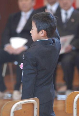 入学式にて