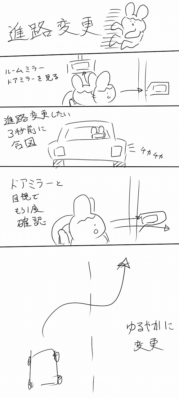 進路変更の合図